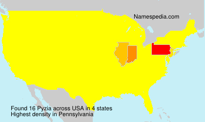 Surname Pyzia in USA