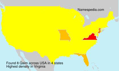 Familiennamen Qaim - USA