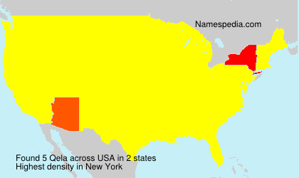 Surname Qela in USA
