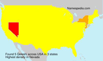 Surname Qeleshi in USA