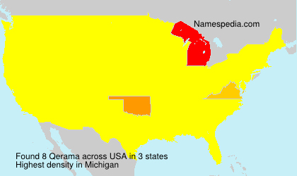 Surname Qerama in USA