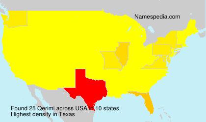 Surname Qerimi in USA