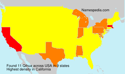 Surname Qihua in USA