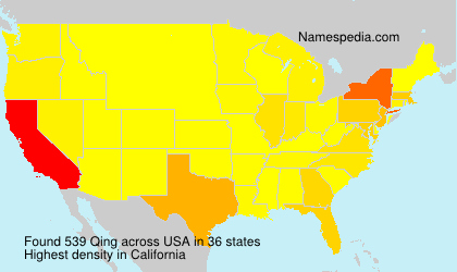 Surname Qing in USA