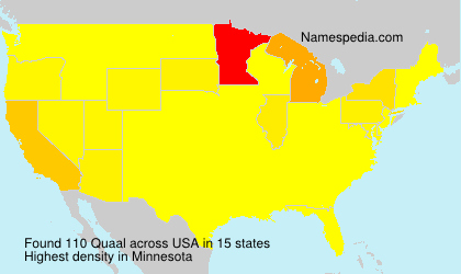 Surname Quaal in USA