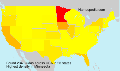 Surname Quaas in USA