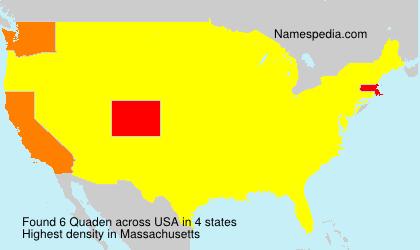 Surname Quaden in USA