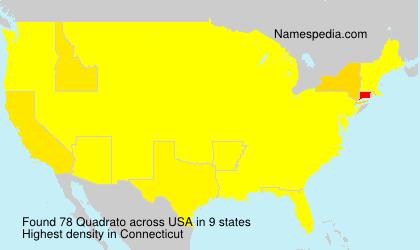 Surname Quadrato in USA
