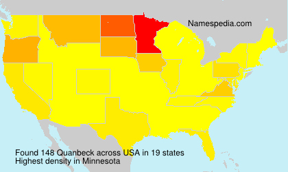 Surname Quanbeck in USA