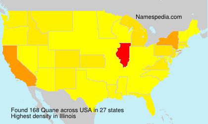 Familiennamen Quane - USA