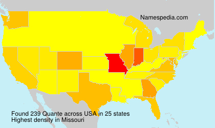 Surname Quante in USA