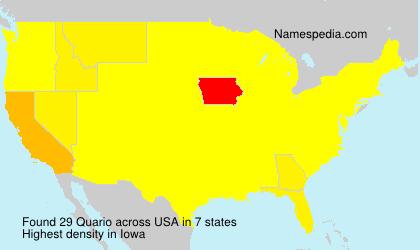 Surname Quario in USA