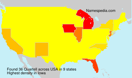 Surname Quartell in USA