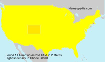 Familiennamen Quartino - USA