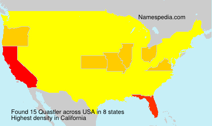 Surname Quastler in USA