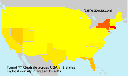 Surname Quatrale in USA