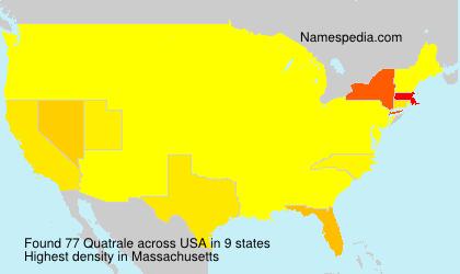 Familiennamen Quatrale - USA