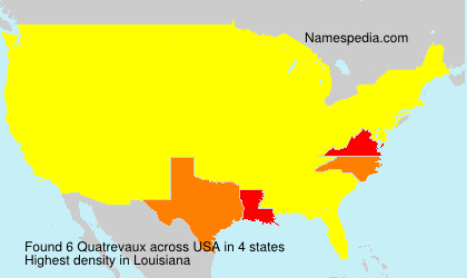 Surname Quatrevaux in USA