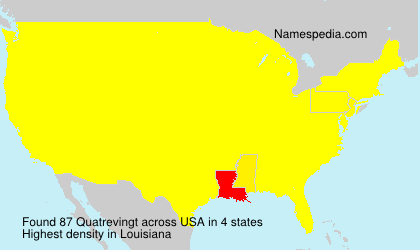 Surname Quatrevingt in USA
