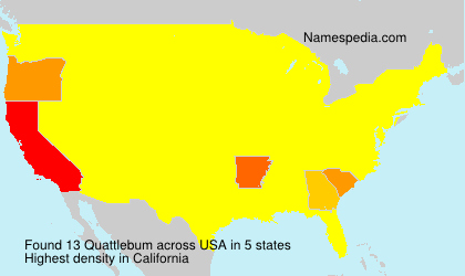 Surname Quattlebum in USA