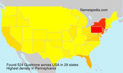 Familiennamen Quattrone - USA