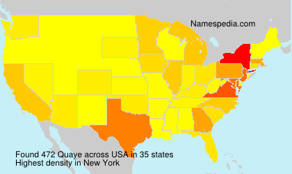 Surname Quaye in USA