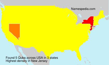 Familiennamen Quba - USA