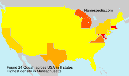 Surname Qudah in USA