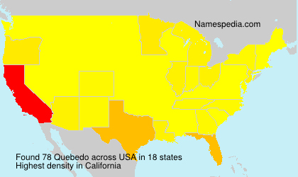 Surname Quebedo in USA