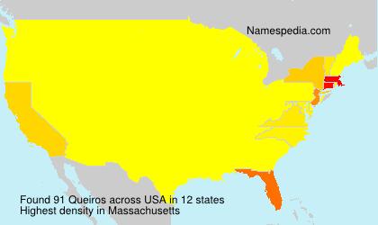 Familiennamen Queiros - USA