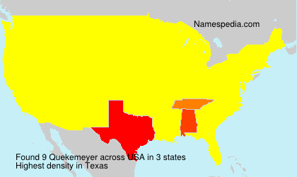 Surname Quekemeyer in USA