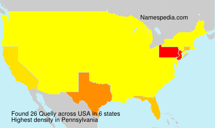 Surname Quelly in USA