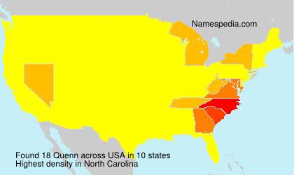 Surname Quenn in USA