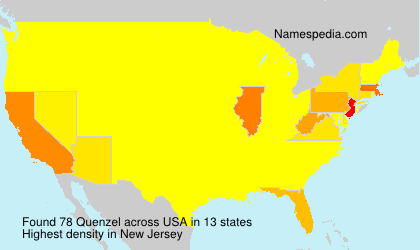 Surname Quenzel in USA