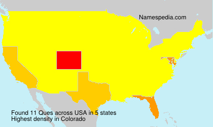 Surname Ques in USA