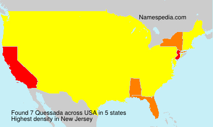 Surname Quessada in USA