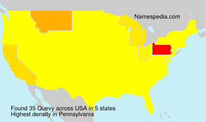 Surname Quevy in USA