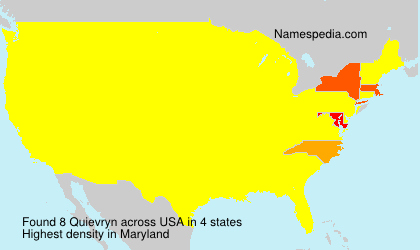 Surname Quievryn in USA