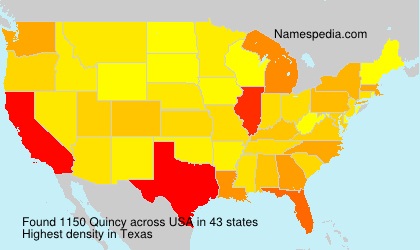 Surname Quincy in USA