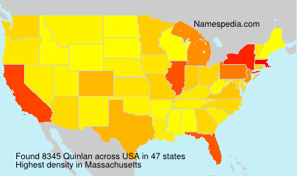 Surname Quinlan in USA