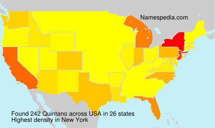 Surname Quintano in USA