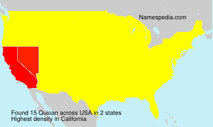 Surname Quioan in USA