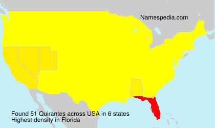 Surname Quirantes in USA
