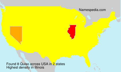 Surname Quiso in USA
