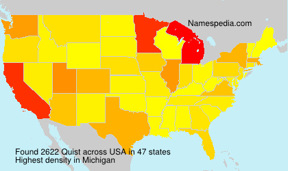 Surname Quist in USA