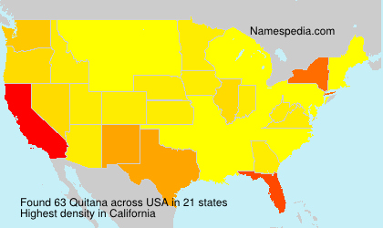 Surname Quitana in USA