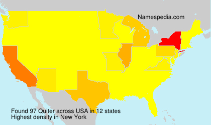 Surname Quiter in USA