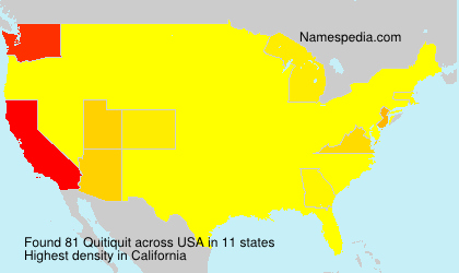 Surname Quitiquit in USA