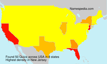 Surname Quiza in USA