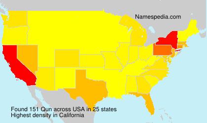 Surname Qun in USA